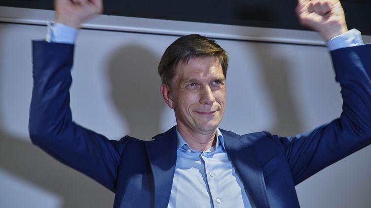 Mathieu Klein,nouveau maire de Nancy (Meurthe-et-Moselle), le 28 juin 2020. (PATRICE SAUCOURT / MAXPPP)