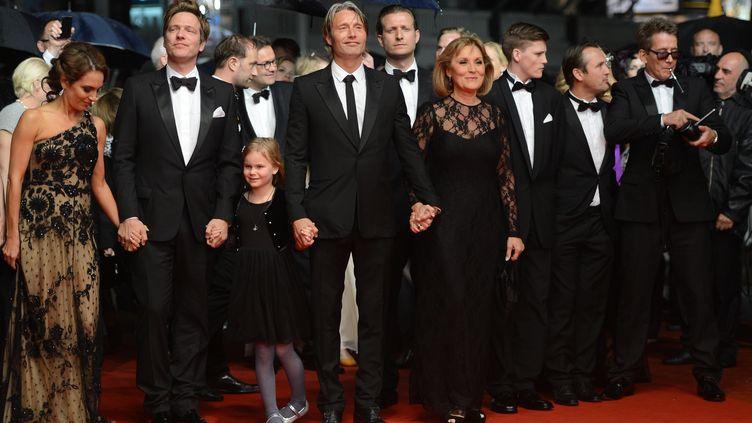 """Après """"Festen"""", le Danois Thomas Vinterberg est de retour en compétition à Cannes sur le thème de la pédophilie dans """"La Chasse"""". mardi 22 mai 2012 (ANNE-CHRISTINE POUJOULAT / AFP)"""