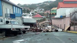 L'île de Saint-Barthélemy a été relativement épargnée par rapport aux dégâts causés à Saint-Barthélemy par l'ouragan Irma. (VALENTINE AUTRUFFE / AFP)