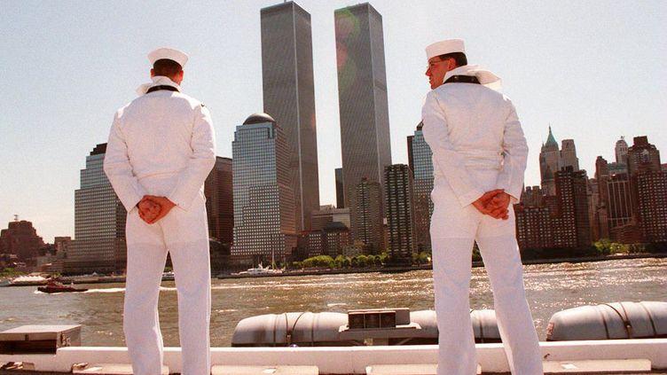 Le World Trade Center, les deux tours jumelles à New York, le 2 juin 1994. (HENNY RAY ABRAMS / AFP)