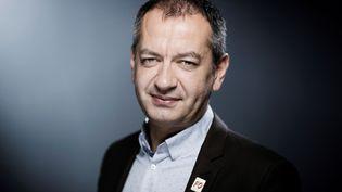 Pascal Pavageau, nouveausecrétaire général de Force Ouvrière, le 4 avril 2018, à Paris. (JOEL SAGET / AFP)