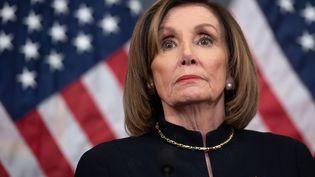 La présidente de la Chambre des représentants des Etats-Unis, Nancy Pelosi, à Washington, le18 décembre 2019. (SAUL LOEB / AFP)