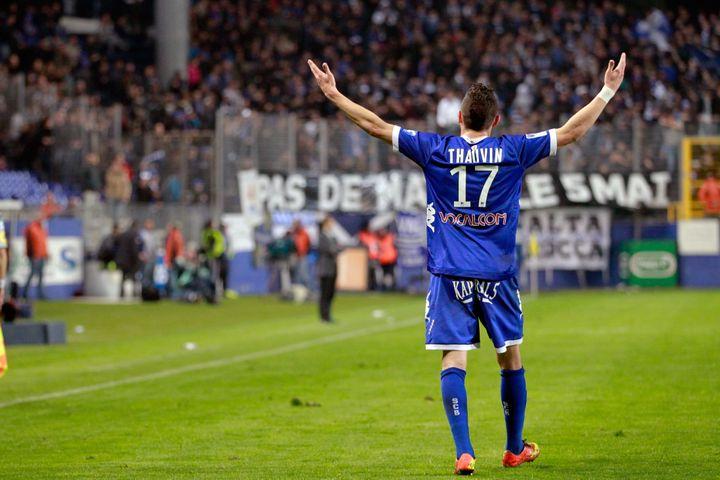 Florian Thauvin sous le maillot de Bastia