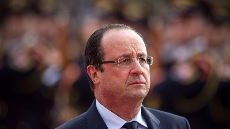Le président de la République, François Hollande, lors d'un déplacement à Bratislava (Slovaquie), le 29 octobre 2013. (ISIFA / SIPA)