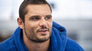 Portrait du nageur du Cercle des nageurs marseillais CNM et champion olympique Florent Manaudou, ci-contre en août 2020. (SPEICH FRÉDÉRIC / MAXPPP)