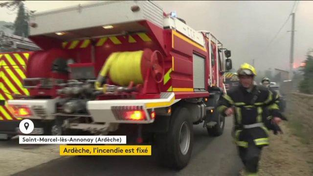 Ardèche : l'incendie est fixé