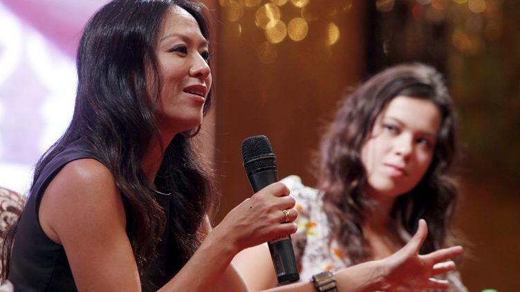 Amy Chua, l'auteure de L'hymne de bataille d'une mère tigre, le 22 juin 2011 à Shanghaï en Chine. (GUANG HUA / IMAGINECHINA)
