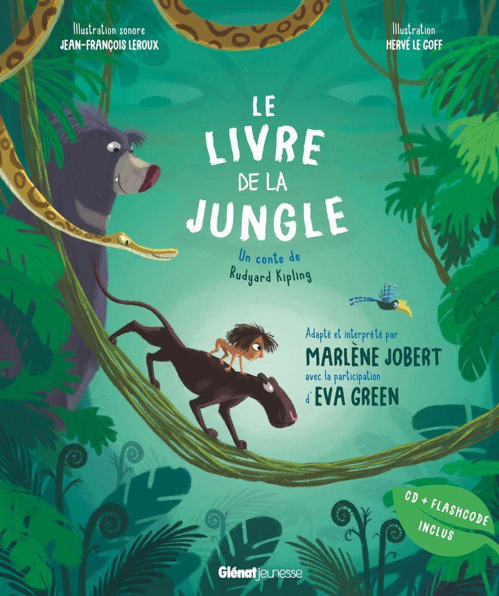 """""""Le livre de la jungle"""", d'après R. Kipling et lu par M. Jobert et E. Green (GLENAT JEUNESSE)"""