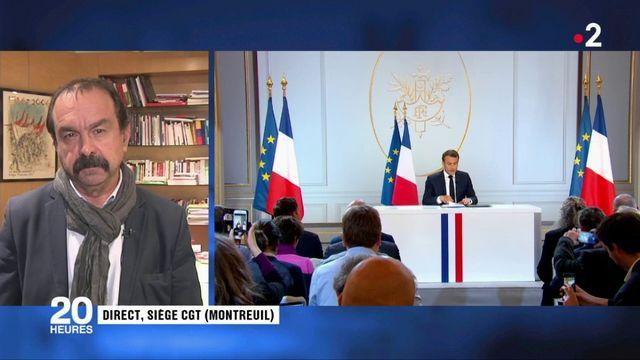 Emmanuel Macron : ce qu'a pensé Philippe Martinez (CGT) de sa conférence de presse