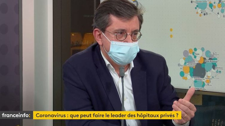 Pascal Roché, directeur général de Ramsay Santé (7 janvier 2021). (FRANCE INFO/ RADIO FRANCE)