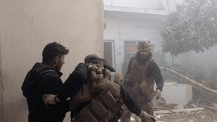 Les forcesantiterroristes irakiennes engagées en première ligne contre le groupe État islamique pour la reconquête de Mossoul, début mars 2017 (RADIO FRANCE / ÉTIENNE MONIN)