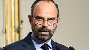 Edouard Philippe s'exprime face à la presse, le 18 mars 2019, à Matignon, à Paris. (BERTRAND GUAY / AFP)