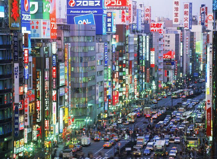 Encombrements dans l'arrondissement de Shinjuku, à Tokyo (Japon),en septembre 2011. (CHAD EHLERS / TIPS / AFP)