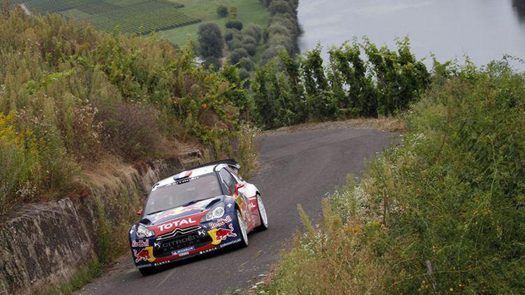 Sébastien Loeb (Citroën) s'éclate au rallye d'Allemagne