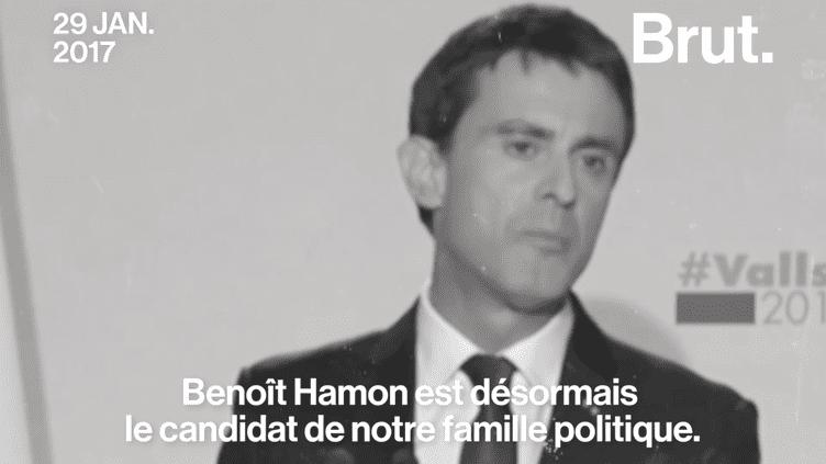En indiquant qu'il voterait pour Emmanuel Macron à la présidentielle, l'ancien Premier ministre s'affranchit du règlement de la primaire de gauche qu'il avait pourtant promis de respecter.  (Brut)