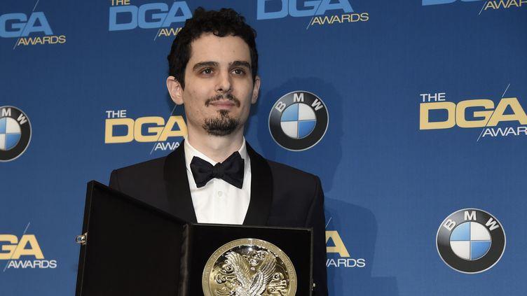 """Damien Chazelle remporte le prix du syndicat des réalisateurs pour """"La La Land"""", février 2017  (Chris Pizzello/AP/SIPA)"""