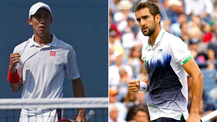 Le Japonais Kei Nishikori et le Croate Marin Cilic vont disputer leur première finale du Grand Chelem