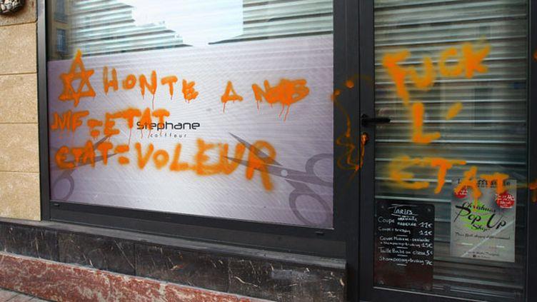 (Acte antisémite à Perpignan le 12 décembre 2014 © MaxPPP)