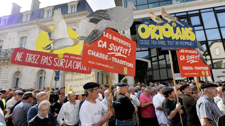La manifestation du 19 août avait rassemblé 2 000 manifestants. (GAIZKA IROZ / AFP)