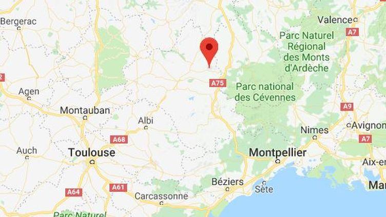 Un homme a sauvé de la noyade un bébé à Saint-Geniez (Aveyron), lundi 17 janvier 2018. (GOOGLE MAPS)