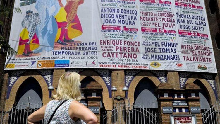 Le programme du Monumental, arènes de taureaux de Barcelone (juillet 2010) (AFP / Josep Lago)