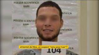 L'auteur présumé de l'attentatà la basilique à Nice (FRANCEINFO)