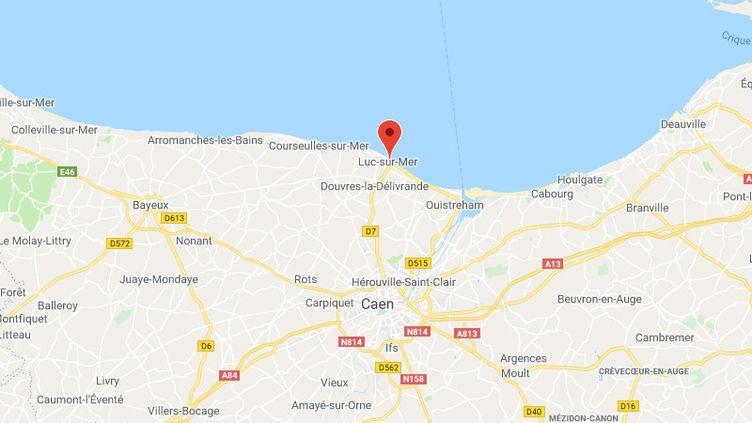 La commune de Luc-sur-Mer dans le Calvados. (GOOGLE MAPS / FRANCETV INFO)