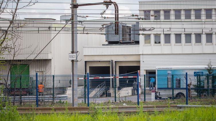 La morgue improvisée de Rungis, le 3 avril 2020. (XINHUA)