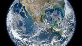 La Terre vue de l'espace par un instrument de la Nasa, l'agence spatiale américaine, le 4 janvier 2012. ( NASA)