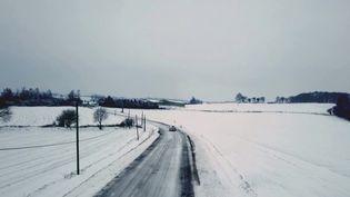 Météo : dix centimètres de neige tombés en Bretagne, un phénomène rare. (FRANCE 3)