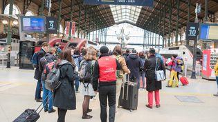 A la gare du Nord le 4 avril 2018, au second jour de grève des cheminots. (MAXPPP)