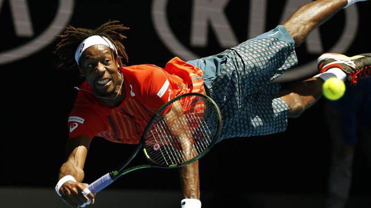 (Monfils en quarts de finale à Melbourne pour la première fois de sa carrière © REUTERS / Issei Kato)