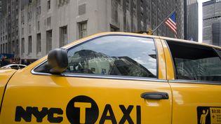 Un taxi dans les rues de New York aux Etats-Unis, en septembre 2013. (SERGI REBOREDO / PICTURE ALLIANCE / AFP)