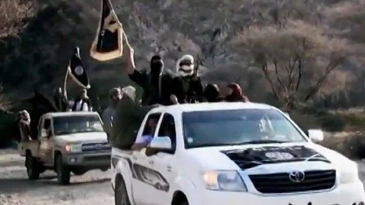 Capture d'écran d'une vidéo de propagande d'Al-Qaïda dans la péninsule arabique, le 16 avril 2014. (AL-MALAHEM MEDIA / AFP)