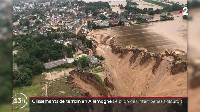 Catastrophe naturelle en Allemagne : le bilan des intempéries s'alourdit après un glissement de terrain