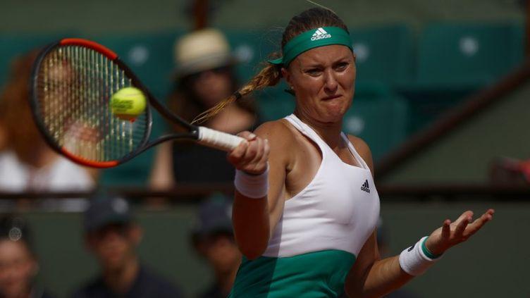 Après un premier tour difficile, Kristina Mladenovic s'est rassurée (MEHDI TAAMALLAH / NURPHOTO)