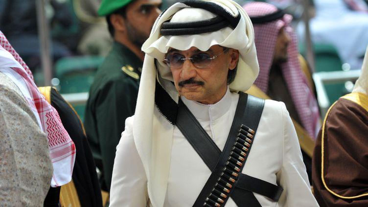 Le prince saoudien Al-Walid Ben Talal,à Riyad, le 18 février 2014. (FAYEZ NURELDINE / AFP)