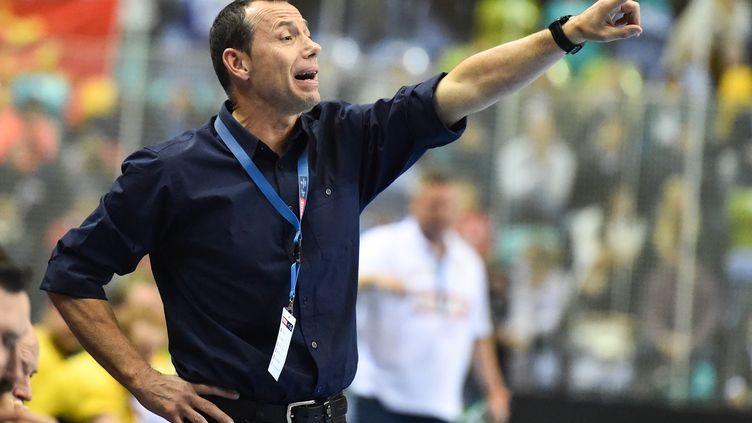 L'entraîneur de l'équipe de handball de Montpellier, Patrice Canayer (UWE ANSPACH / DPA)