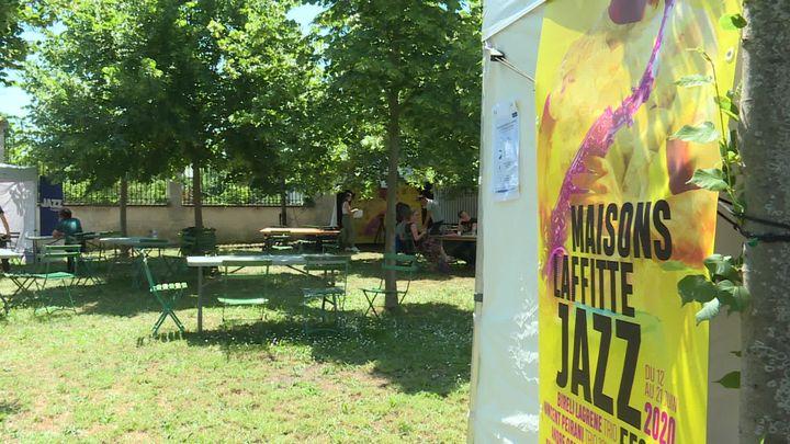 Un air de festival lors des snces d'enregistrement des concerts de la 16e édition version digitale du Maisons-Lafitte Jazz Festival. (G.Bezou / France Télévisions)