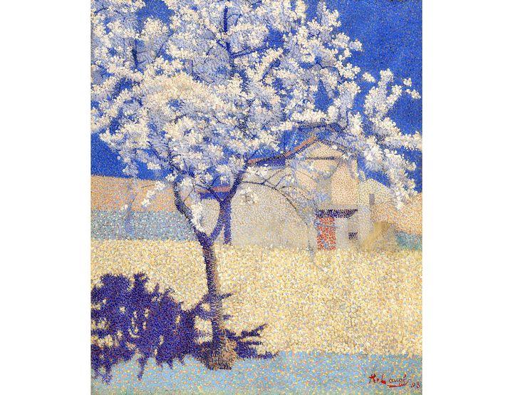 """Achille Laugé (1861–1944), """"L'Arbre en fleur"""", 1893, huile sur toile (Collection particulière)"""
