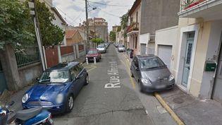 La rue Alfred-de-Musset, à Toulon (Var), où a éclaté une fusillade lundi 23 novembre 2015. (GOOGLE STREET VIEW)