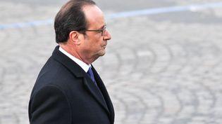 Le président François Hollande, le 11 novembre 2016 à Paris. (CITIZENSIDE / YANN KORBI / AFP)