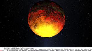 L'exoplanète GJ 667Ccqui vient d'être détectée est rocheuse, comme Kepler-10b (ici en photo), découverte en janvier 2011. (NASA / SIPA)