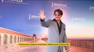 Johnny Depp à Deauville (FRANCEINFO)