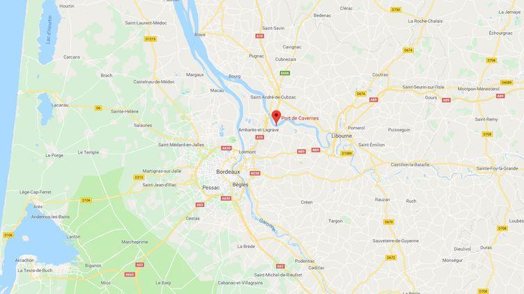 Le corps d'un homme a été découvert à Saint-Loubès (Gironde), dimanche soir vers 19h. (Capture d'écran Google Maps)