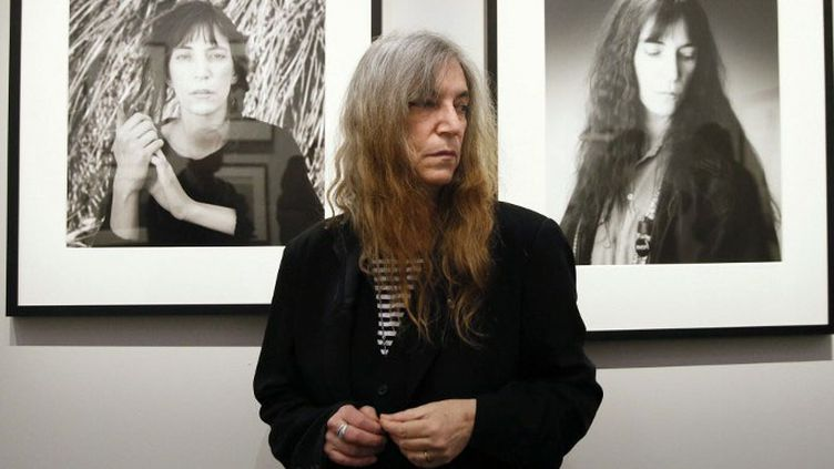Patti Smith au vernissage de l'exposition Robert Mapplethorpe du Grand Palais, le 24 mars 2014)  (PATRICK KOVARIK / AFP)