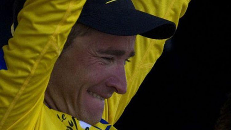 Thomas Voeckler en jaune (JOEL SAGET / AFP)