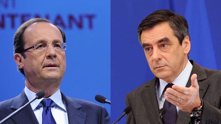 François Fillon invite François Hollande à présenter son programme économique à Standard & Poor's, le 15 janvier 2012, dans le Journal du Dimanche ((MIGUEL MEDINA / AFP))