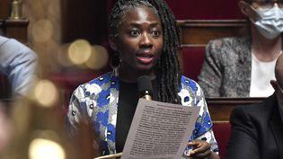 Danièle Obono, députée La France insoumise de Paris, le 28 juillet 2020 à l'Assemblée nationale. (STEPHANE DE SAKUTIN / AFP)