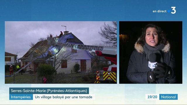 Intempéries : un village des Pyrénées-Atlantiques balayé par une tornade